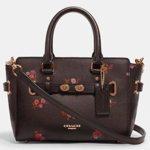 NWT Coach Mini blake bouquet floral satchel